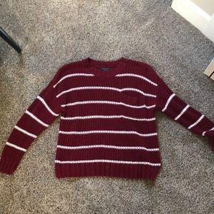 American Eagle Crewneck Striped Sweater
